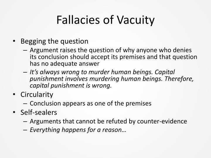 Fallacies of Vacuity