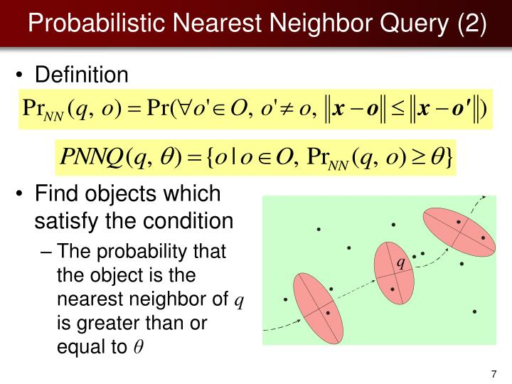 Probabilistic Nearest Neighbor Query (2)