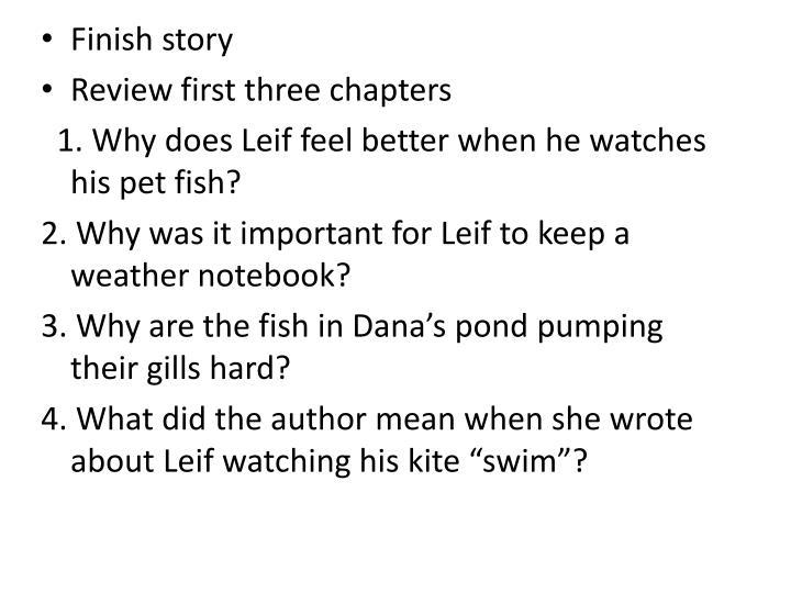 Finish story