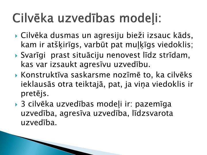 Cilvēka uzvedības modeļi: