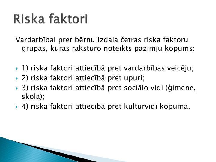 Riska faktori