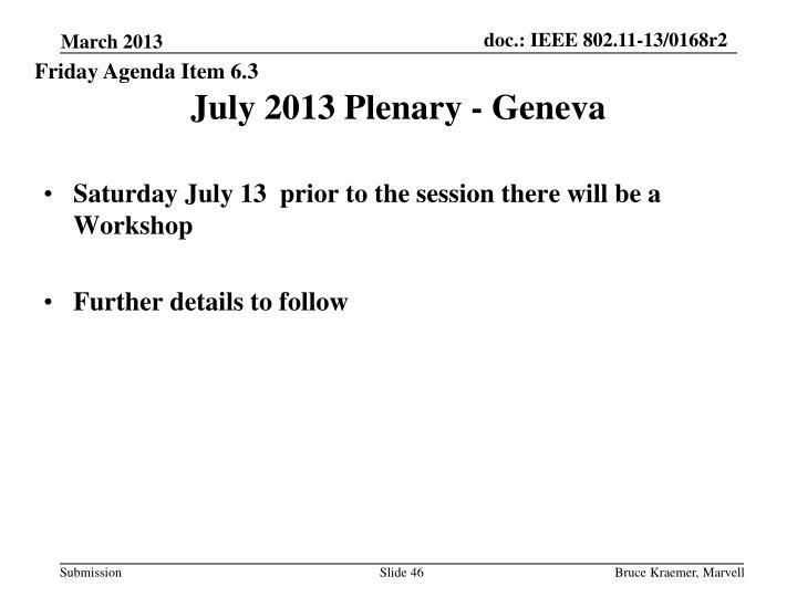 Friday Agenda Item 6.3