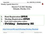 march 17 22 2013 meeting orlando florida usa