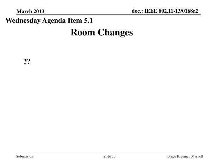 Wednesday Agenda Item