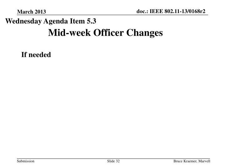 Wednesday Agenda Item 5.3
