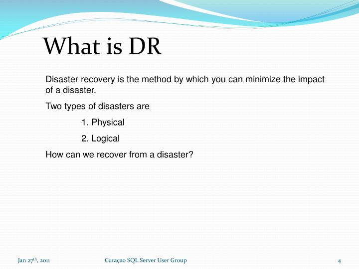 What is DR