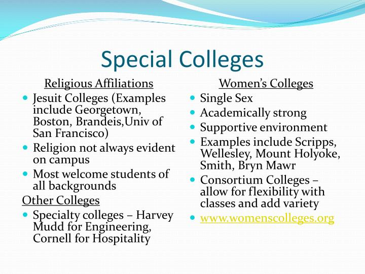 Special Colleges