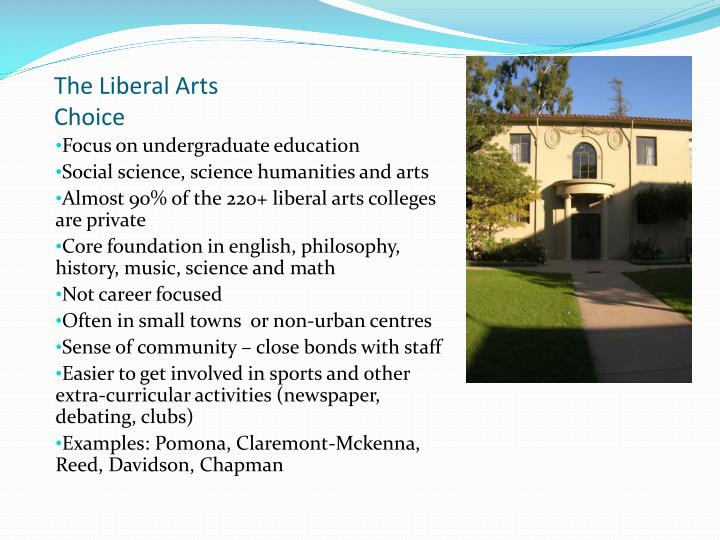 The Liberal Arts Choice