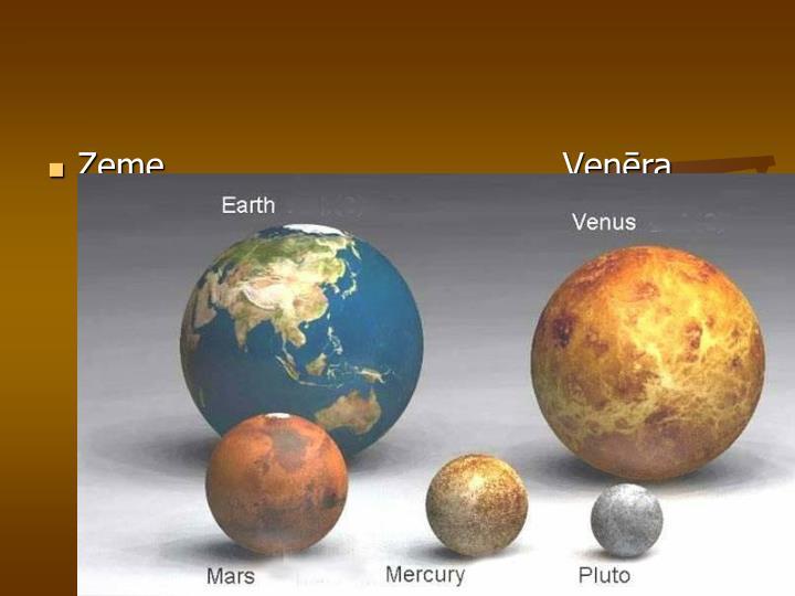 Zeme                                    Venēra