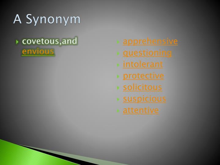 A Synonym
