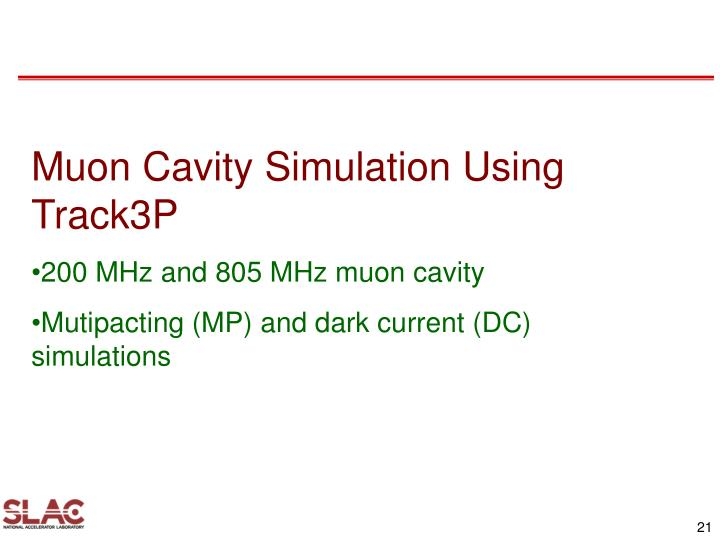 Muon Cavity Simulation Using Track3P