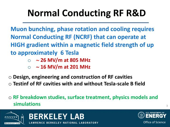 Normal Conducting RF R&D