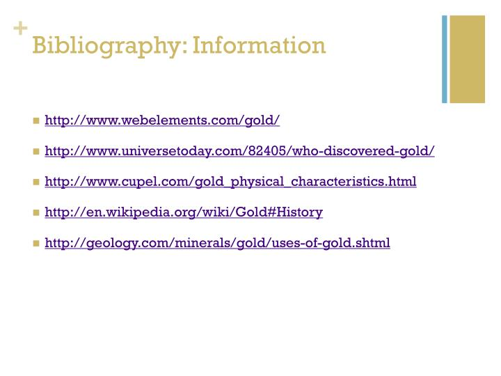 Bibliography: Information