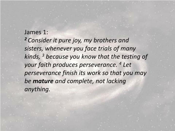 James 1: