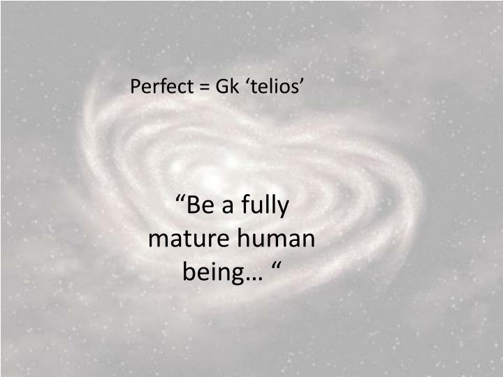 Perfect =