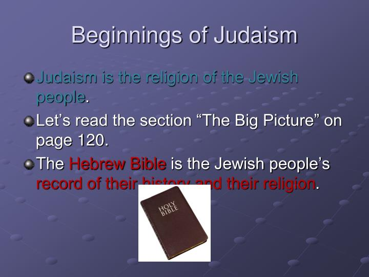 Beginnings of Judaism