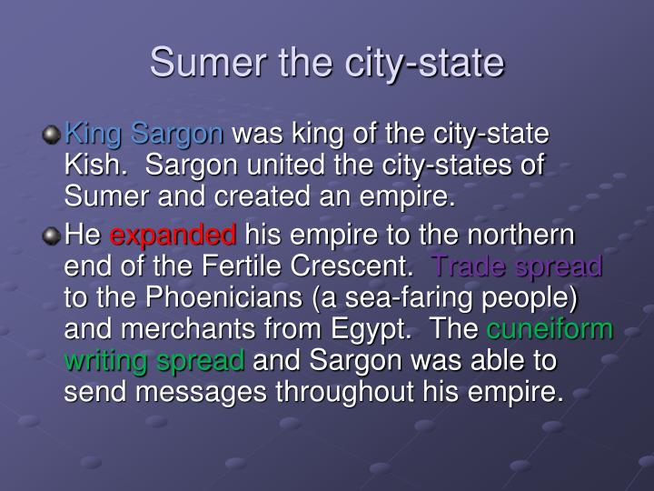 Sumer the city-state