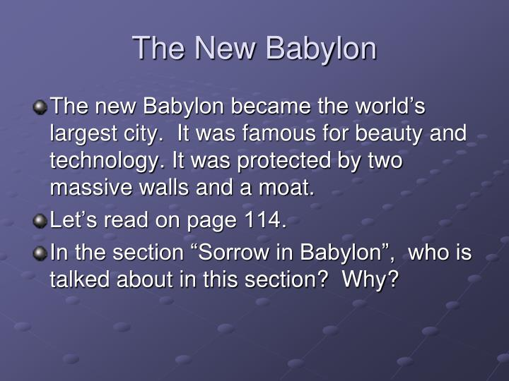 The New Babylon