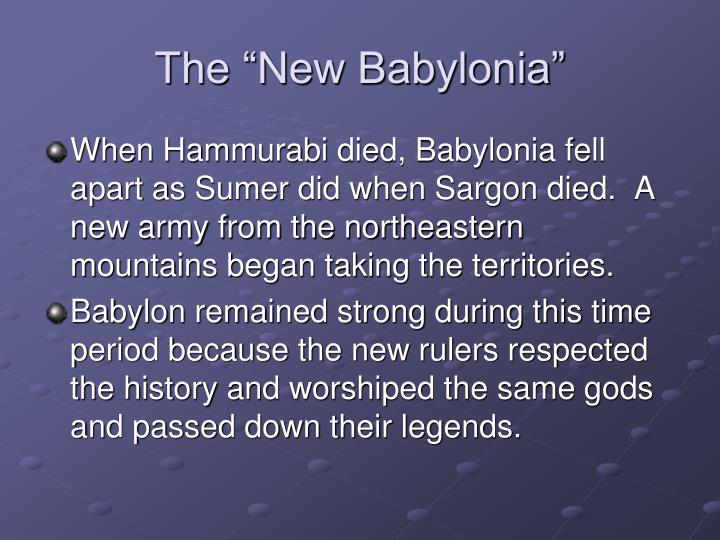"The ""New Babylonia"""