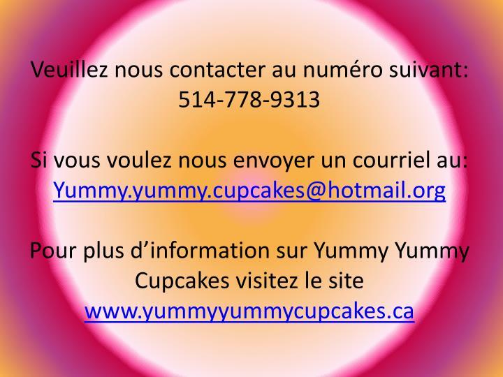 Veuillez nous contacter au