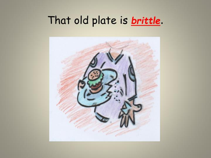 That old plate is