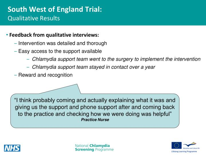 South West of England Trial: