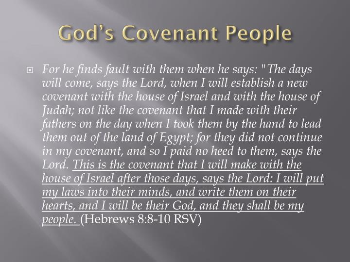 God s covenant people