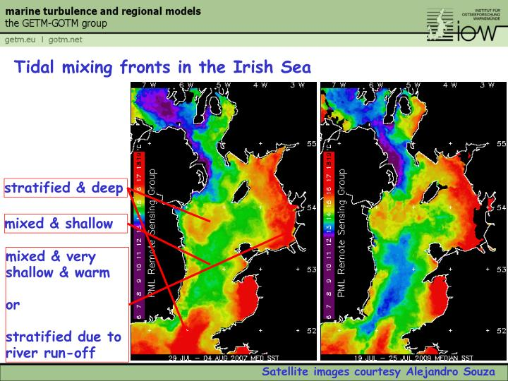 Tidal mixing fronts in the Irish Sea