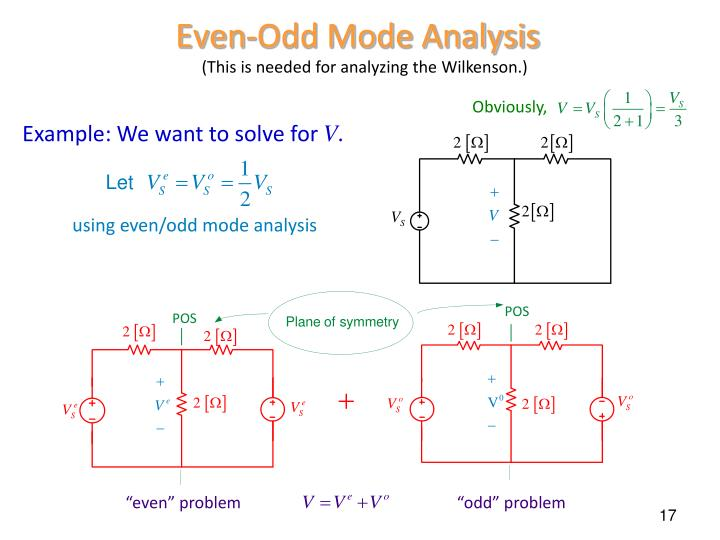 Even-Odd Mode Analysis