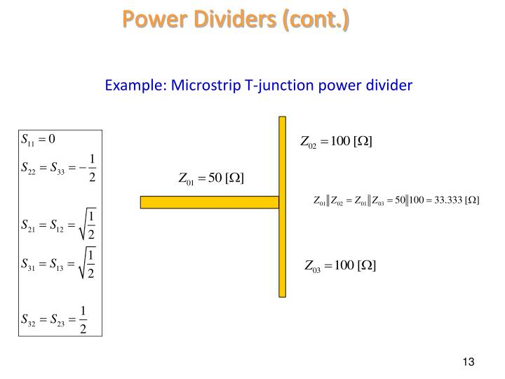 Power Dividers (cont.)