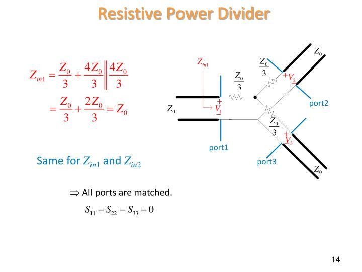 Resistive Power Divider