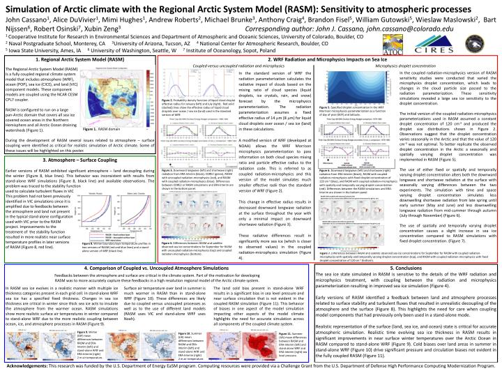 Simulation of Arctic climate with the Regional Arctic System Model (RASM): Sensitivity to atmospheri...