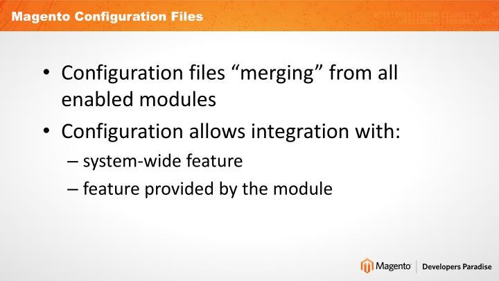 Magento Configuration Files