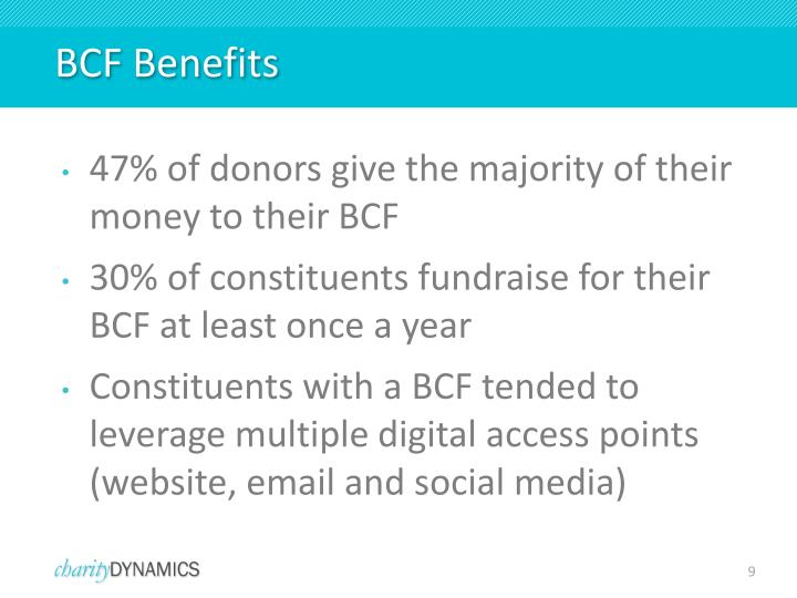 BCF Benefits