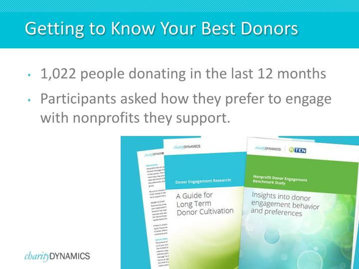 Getting to Know Your Best Donors