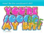how be the constituent s bcf