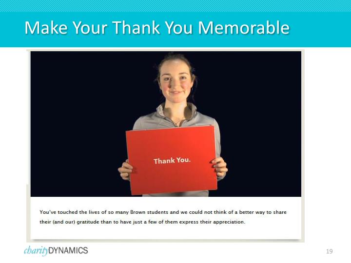 Make Your Thank You Memorable