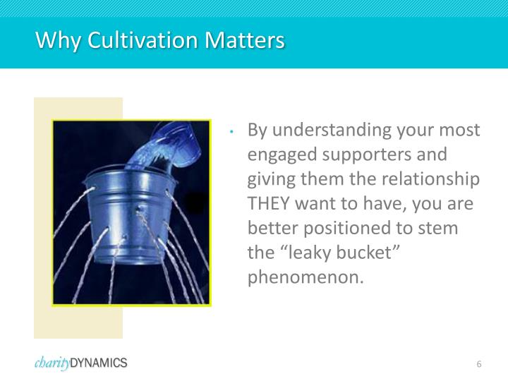 Why Cultivation Matters