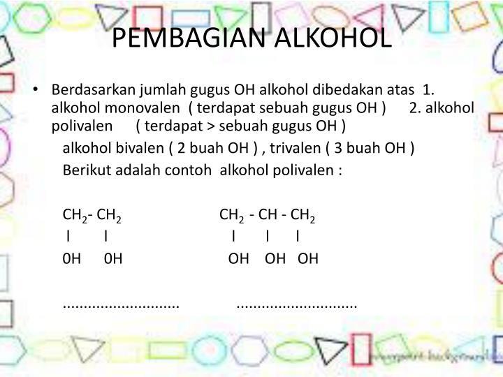 PEMBAGIAN ALKOHOL