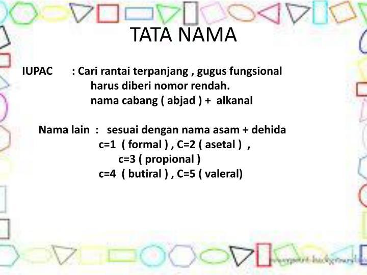 TATA NAMA