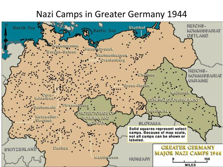 Nazi Camps in Greater Germany 1944