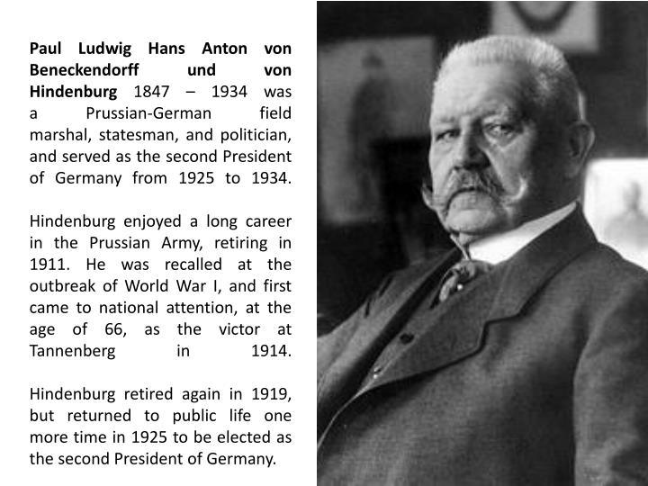 Paul Ludwig Hans Anton von