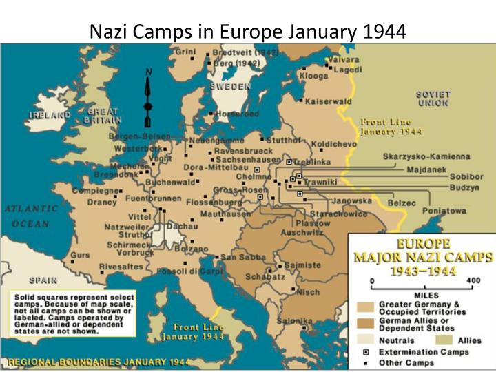 Nazi Camps in Europe January 1944