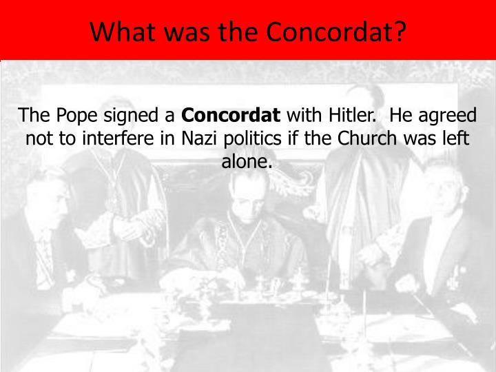 What was the Concordat?