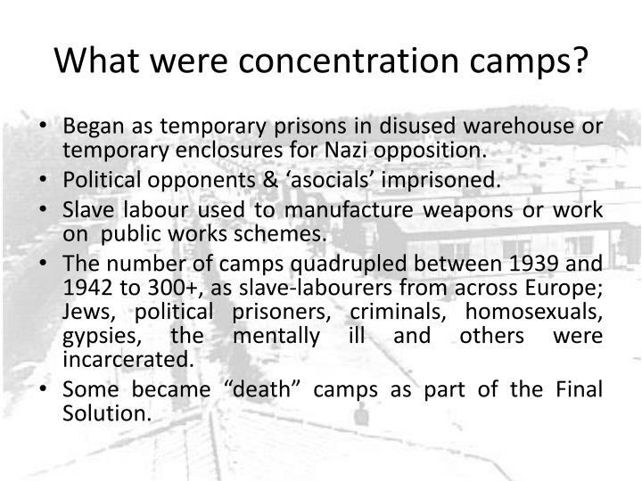 What were concentration camps?