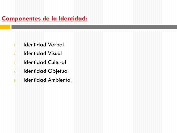 Componentes de la Identidad: