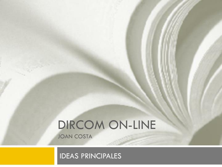Dircom on line joan costa