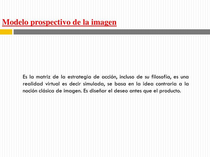 Modelo prospectivo de la imagen