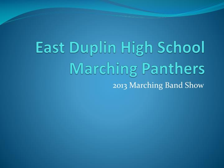 East Duplin High School Marching Panthers