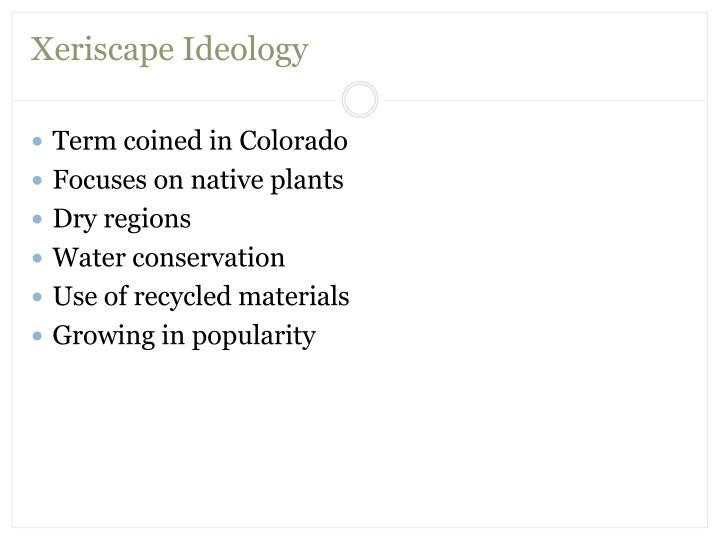 Xeriscape Ideology
